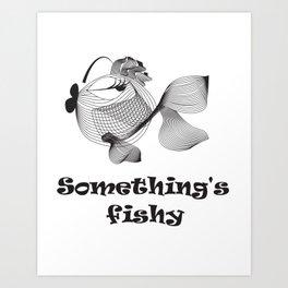 Cute funny fish Art Print