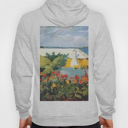 Flower Garden And Bungalow Bermuda 1889 By WinslowHomer | Reproduction Hoody