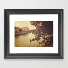 Paris sunset Framed Art Print