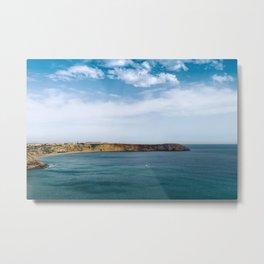 Ocean view from Fortaleza de Sagres, Portugal Metal Print