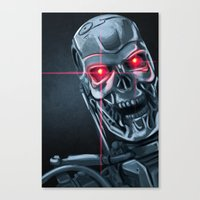 terminator Canvas Prints featuring Terminator by LynxArtCollection