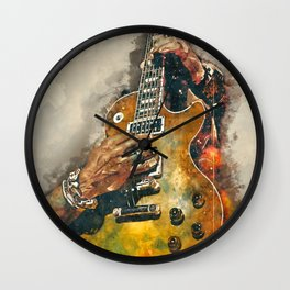 slash's electric guitar, guitar wall art, studio decor, music room decor, gift for guitarists Wall Clock