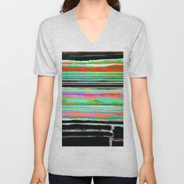 colorful abstract painting Unisex V-Neck