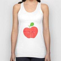 apple Tank Tops featuring apple by Berreca