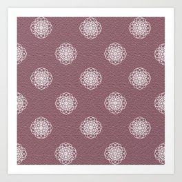 Blush Geometry Art Print