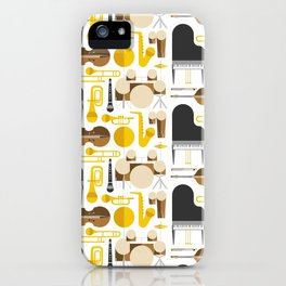 Jazz instruments iPhone Case