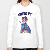 dc comics Long Sleeve T-shirts featuring Super DC by Sunshunes