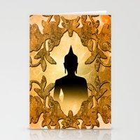 buddha Stationery Cards featuring Buddha  by nicky2342