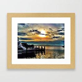 Ocean City Sunset Framed Art Print
