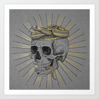 stay gold Art Prints featuring stay gold by Laura Graves