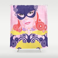 batgirl Shower Curtains featuring Batgirl 60 by Joshua A. Biron