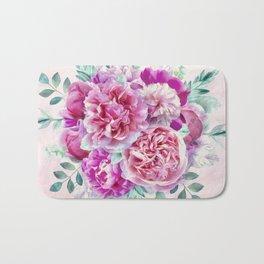 Beautiful soft pink peonies Bath Mat