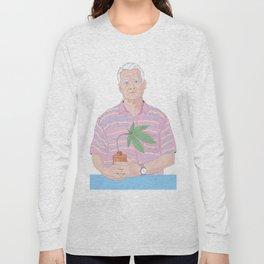 Bill Murray holding a pot Long Sleeve T-shirt