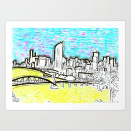 BRISBANE POSTCARD SERIES 018 Art Print