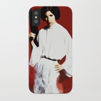princess leia iPhone & iPod Cases featuring Princess Leia by Ms. Givens