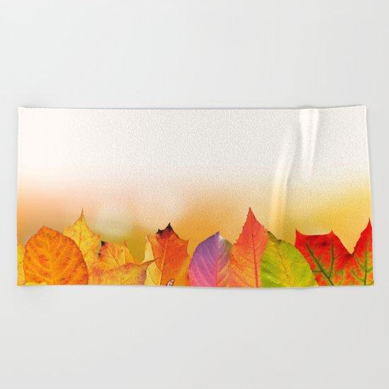 Autumn Leaves Beach Towel
