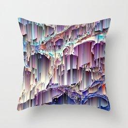 Run Away Waterfall Digital Design - Purple and Blue  - Colorful Throw Pillow