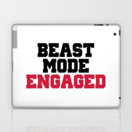Beast Mode Engaged Gym Quote Laptop & iPad Skin