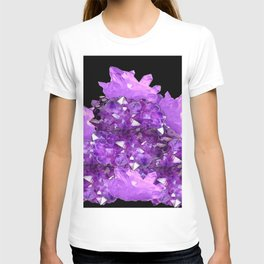 AWESOME PURPLE AMETHYST CRYSTAL CLUSTER T-shirt