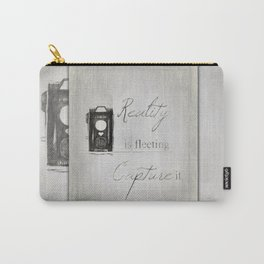 Reality is Fleeting ~ Sketched Camera ~ Ginkelmier Inspired Carry-All Pouch