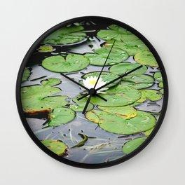 Lilypad Pond Landscape Nature Photography Wall Clock