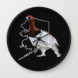 Alaska – Willow Ptarmigan (Black) Wall Clock