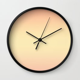 Gentle coral, light yellow gradient. Ombre. Wall Clock