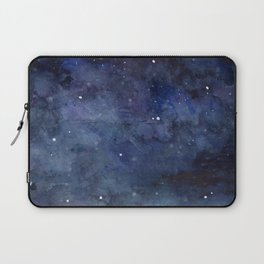 Galaxy Nebula Watercolor Night Sky Stars Outer Space Blue Texture Laptop Sleeve