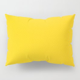 Yellow leather texture Pillow Sham