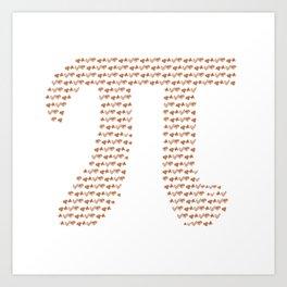 Happy Pi Art Print