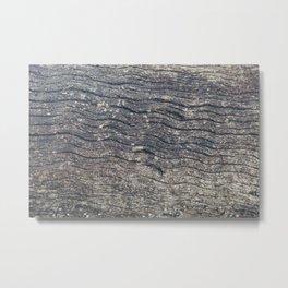 Dark Tree Bark Abstract Metal Print