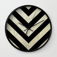 decal Wall Clocks featuring Bold by Charlene McCoy