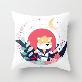 COSMODOG : Shibastronaut Throw Pillow
