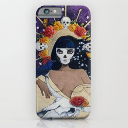 She Swallows The Stars Turning Night Into Day iPhone Case