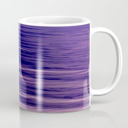 Movement of Water on a Calm Evening- Violet Abstraction Coffee Mug