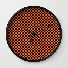 Checkered Halloweenie Wall Clock