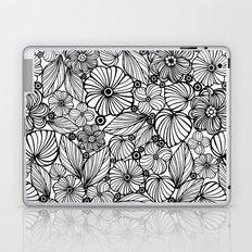 Candy flowers in black Laptop & iPad Skin