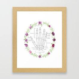 Picking Purple Flowers Framed Art Print