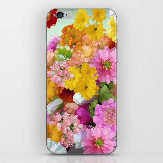 May the Flowers Be With You iPhone & iPod Skin