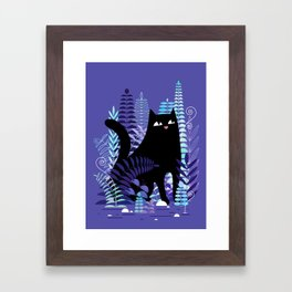 The Ferns (Black Cat Version) Framed Art Print