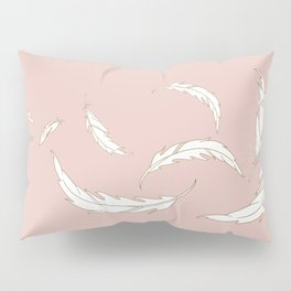 Come fly with me blush illustration Pillow Sham