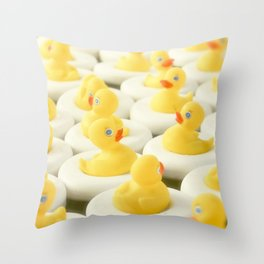 Rubber Ducky Time Throw Pillow