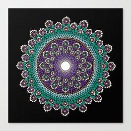 Purple and Teal Mandala Canvas Print