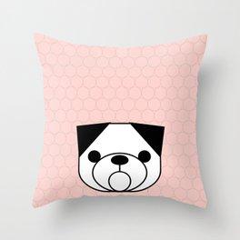 Pop Dog Pug Throw Pillow
