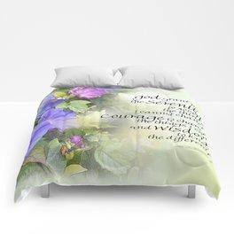Serenity Prayer Morning Glories Glow Comforters