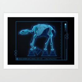 At-At Anatomy Art Print