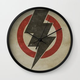 lightning strike zone Wall Clock