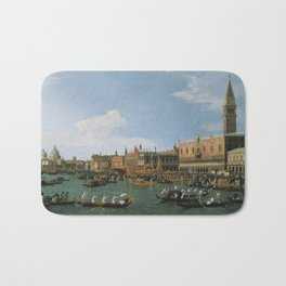 Canaletto Bernardo Bellotto  -  Return Of il Bucintoro On Ascension Day Bath Mat