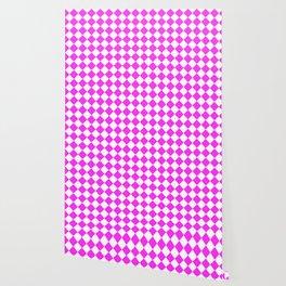 Pink Checkered Wallpaper