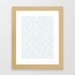 Pastel Crystal Snowflakes Framed Art Print